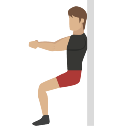 wall sits illustration