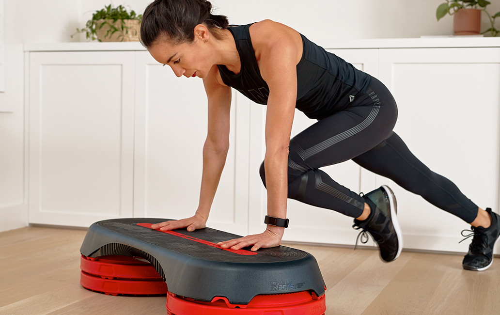 LesMills On Demand Woman working out at home